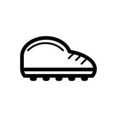 Man sneakers vector icon. Black and white sport shoes illustration. Outline linear icon.