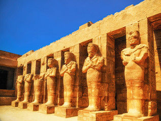 Fotobehang Egypte Karnak Temple, Hall of caryatids. Luxor, Egypt