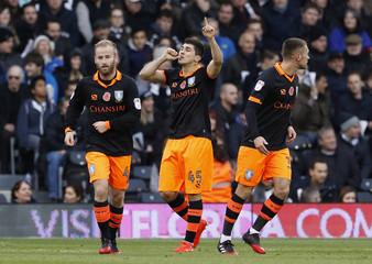 Sheffield Wednesday's Fernando Forestieri celebrates their first goal
