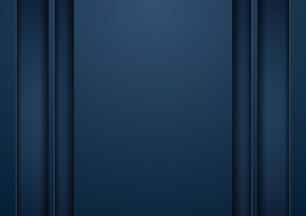 Dark blue tech abstract concept background