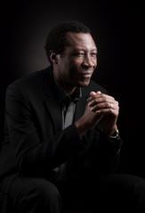 Handsome african black man studio portrait.