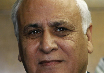 Israel's former President Moshe Katsav is seen inside the Tel Aviv District Court as the verdict on rape and other charges of sexual misconduct against him is handed down