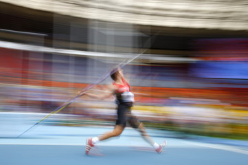 Seifert of Germany competes in the men's javelin throw qualifying round during the IAAF World Athletics Championships at the Luzhniki stadium in Moscow