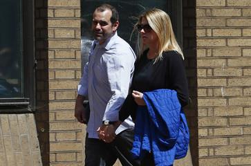 Former Barclays trader Alex Pabon arrives for sentencing at Southwark Crown Court in London