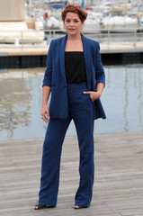 "Actress Sarah Green poses during a photocall for the television series ""Ransom"" during the annual MIPCOM television programme market in Cannes"