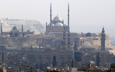 The Mosque of Mohamed Ali Pasha in the ancient citadel of Cairo is pictured in old Cairo