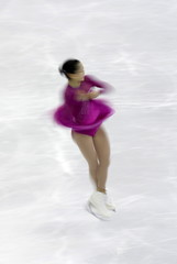 Satoko Miyahara of Japan performs during the ladies free program at the ISU Grand Prix of Figure Skating final in Barcelona