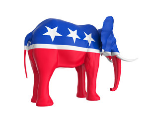 Elephant Republican Isolated