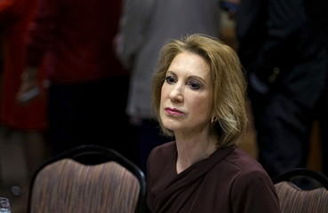 Fiorina, Republican presidential candidate, looks on at the Southern Republican Leadership Conference in Oklahoma City
