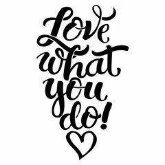 Lettering Love what you do