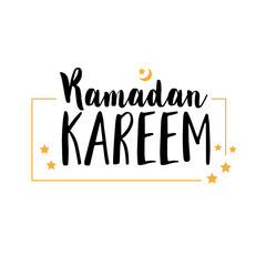 Ramadan Kareem , Illustration with calligraphy , vector object logo is a badge for your design