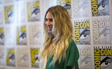 "Cast member Carter poses at a press line for ""Falling Skies"" during the 2015 Comic-Con International Convention in San Diego"