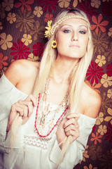 Beautiful Blond Hippie Girl