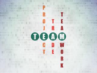 Business concept: Team in Crossword Puzzle