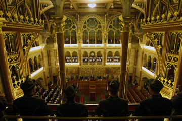 Hungary's parliament holds a special session to commemorate the anniversary of the Trianon peace treaty in Budapest