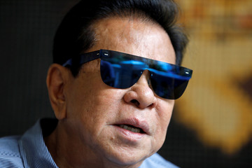 "Filipino tycoon Luis ""Chavit"" Singson speaks during an interview at his house in a posh village in Mandaluyong, Metro Manila, Philippines"