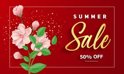 Summer Sale lettering in frame