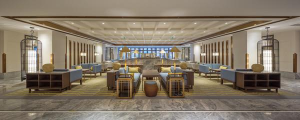 luxury hotel lobby interior