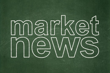 News concept: Market News on chalkboard background