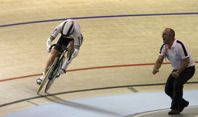 Australia's Meares competes in the Womens Team Sprint final during the UCI 2010 World Track Cycling Championships in Copenhagen