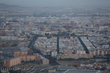 Aerial view of Seville city, southern Spain