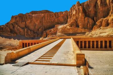 Egypt. Luxor. Deir el-Bahari (Deir el-Bahri). The Mortuary Temple of Hatshepsut