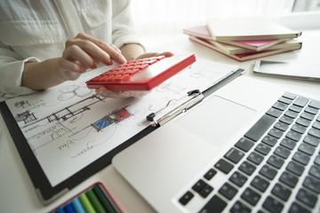 Female designers are using calculators