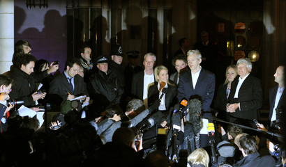 WikiLeaks founder Julian Assange speaks to the media on the steps of the High Court, in London