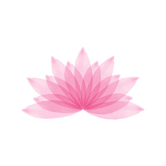 Watercolor lotus flower vector illustration