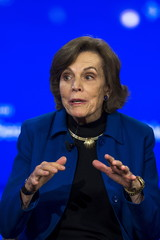 Sylvia Earle, chairman of the Sylvia Earle Alliance, speaks at a session on sustainable oceans during the Clinton Global Initiative's annual meeting in New York
