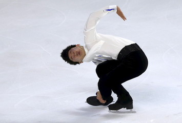 Ten of Kazakhstan competes during the Men short program at the ISU Bompard Trophy Figure Skating competition in Bordeaux