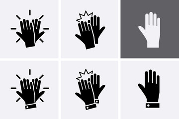High Five Icon set.