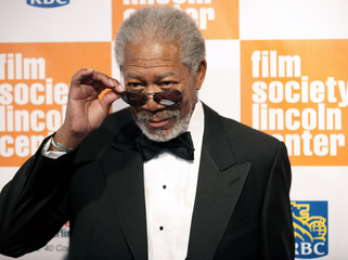 Actor Morgan Freeman arrives at The Film Society's Annual Gala Presentation of the 38th Annual Chaplin Award, honoring award-winning actor Sidney Poitier, in New York