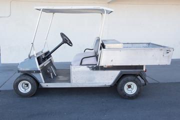 white golf car