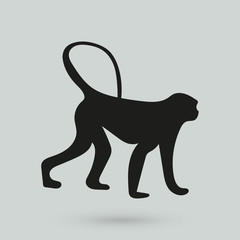 monkey icon in a simple style