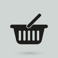 basket icon in a simple style