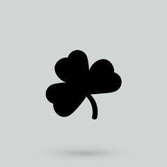 Clover icon in a simple style