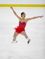 Mirai Nagasu of USA skates the Women's long program at the Autumn Classic International skating competition in Montreal