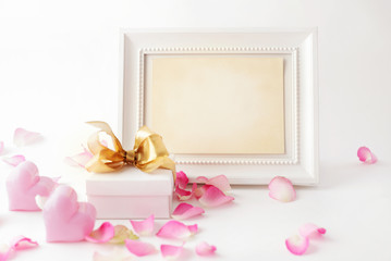 composition with photo frame