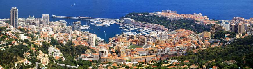 Panorama de Monaco et Monte-Carlo