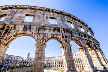 amphitheater in pula - croatia