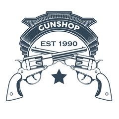 Collection of Gun club emblems