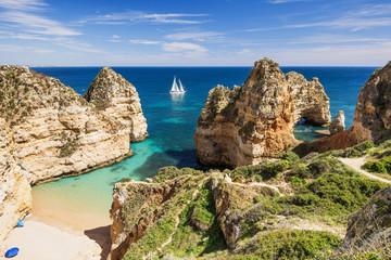 Beautiful bay near Lagos town, Algarve region, Portugal