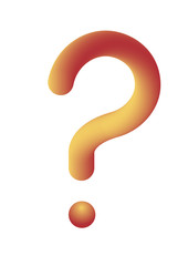 Big Question mark symbol. Vector illustration