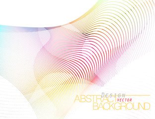 Abstract colored row scene vector wallpaper on a white background