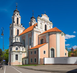 Church of St. Catherine. Vilnius, Lithuania.