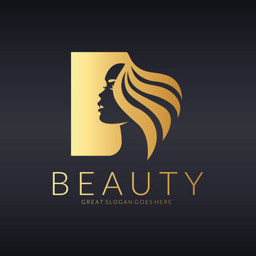 Beauty logo. Beautiful girl vector illustration