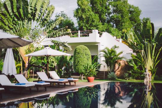 Beautiful pool villa in tropical garden