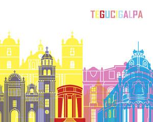 Fototapete - Tegucigalpa skyline pop