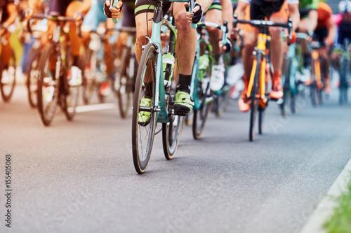Fotobehang Cycling race